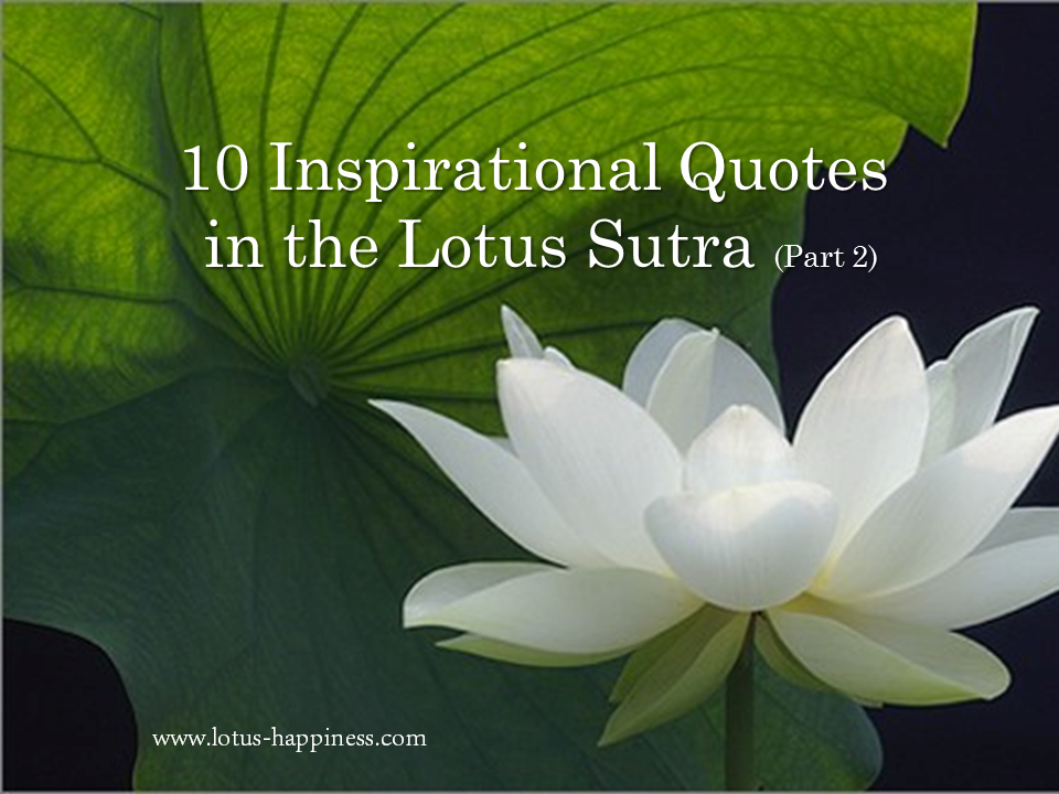 10 Inspirational Quotes In The Lotus Sutra Part 2